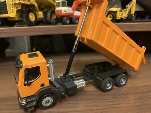 1:50 Joal Camion ribaltabile 3 assi RENAULT Kerax arancione die cast - custom