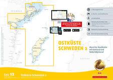 Seekarten Satz 12 Revierführer Seekarte Ostküste Schweden 2 Stockholm Gotland
