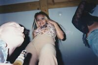 Very Pretty Girl FOUND PHOTO Color FREE SHIPPING Snapshot From Below WOMAN 91 23