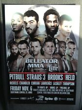 "Pitbull Straus Brooks Held Bellator 145 Small Poster St Louis Mo MMA 5"" X 7"""