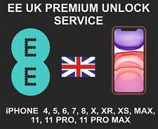 EE UK Premium Unlock Service, iPhone 4, 5, 6, 7, 8, X, XR, XS, MAX, 11, Pro, Max