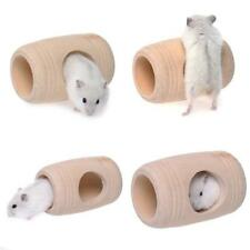 Wooden House Tube Cage Exercise Toys For Hamster Hedgehog Mouse Rat HC