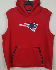 NIKE NEW ENGLAND PATRIOTS TEAM ISSUED SLEEVELESS HOODIE RED RARE (SIZE 3XL)