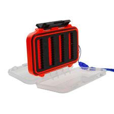 Fly Box Waterproof Double Side Clear Lid Tackle Jig Box Hook Storage Case
