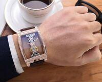 New Fashion Men Women Flywheel Bridge Movement Exhibition Mechanical Wrist Watch