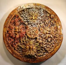 Green man Wheel of the year wall plaque, Pagan, wiccan, beltaine, imbolc, Jack