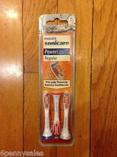 SONICARE Power Up Replacement Toothbrush Brush Heads Regular Bristles Sonic Care