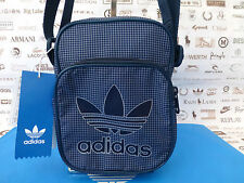 ADIDAS MINI Body Bag TEAM Crossbody Logo Man Bags Navy Check Shoulder Sack BNWT