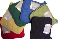Pot Holders Looped Cotton Made Machine Washable Heat Resistant Durable x12 Pack