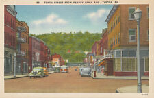 Tyrone PA * 10th St. from Pennsylvania Ave. 1940s *