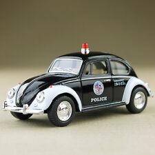 1967 Classic VW Volkswagen Beetle Police Car Black White 1:32 Scale Die-Cast