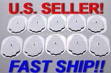 10 Large Snap-On Electrode Pads (5 Pairs) For Digital Tens/EMS Machines - USA !!
