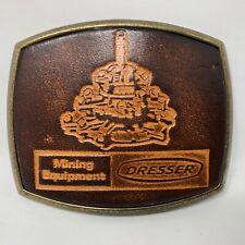 VTG El Cid Mining Equipment Dresser Leather Brass Belt Buckle Miner Equipment