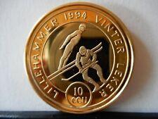 Norwegen 10 ECU 1994- Olympische Winterspiele in Lillehammer vergoldet
