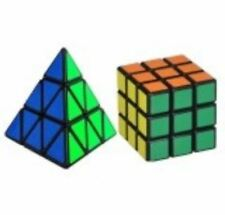 Rubik's Cube 3x3 and Pyraminx Bundle Set Black