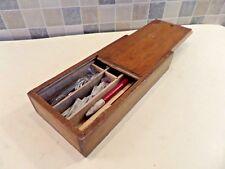 """Antiguo Winsor & Newton Ltd """"El Práctico Tiza Dibujo Caja 'con todos los contenidos"""