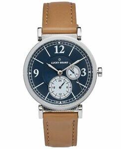 LUCKY BRAND Carmel boyfriend tan beige leather strap 38 mm Women's watch
