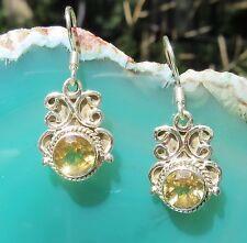 Ohrring Zitrin Citrin gelb Stein d Sternzeichen Löwe Sterling Silber 925