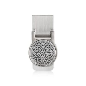 PEWTER AND STEEL MONEY CLIP NEVER ENDING KNOT MADE IN THE UK A E WILLIAMS