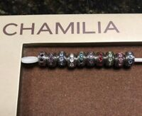 Authentic Chamilia Wheel Swarovski Birthstone Charms Many Months Available