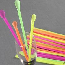 New Useful Jumbo Spoon Straws Drinking Straw Bar Pub Slush Puppies Straw 50Pcs
