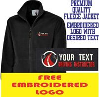Personalised Embroidered Fleece Jacket DRIVING INSTRUCTOR Workwear UNIFORM