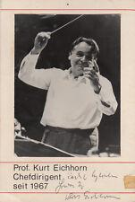 Kurt Eichorn Dirigent Portraitfotografie Widmung Unterschrift 1971