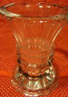 """Vintage STUDIO NOVA Crystal VASE Candle Holder 5"""" Heavy Made In Japan        353"""
