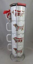 Sheffield Home - Dachshund Dog - Christmas - Stackable Coffee Cup / Mug Set