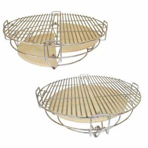 "Mokutan Kamado 15"" BBQ Grill Egg Multifunctional Dual Zone Divide & Conquer"