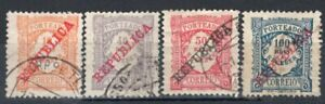 PORTUGAL 1910 POSTAGE DUE STAMP Sc. # J 15 AND J 18/20 USED