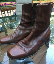 Men's Vtg Florsheim Ankle Boots Brown 10.5 C Side Zip