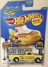 "Ford F250 CUSTOM-Made Hot Wheels The BEATLES ""YELLOW SUBMARINE"" Real Rider"
