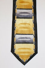 New Don Jonathan 100% Silk Tie NWOT Black Gold Unique Nice!