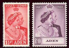 Aden 1949 KGVI Silver Wedding set complete MLH. SG 30-31. Sc 30-31.