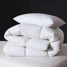 "Luxury White Goose Down Comforter Duvet Insert Queen Size 90x90"" Lightweight"