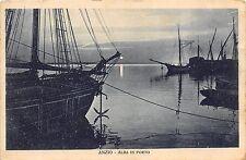 0037) ANZIO (ROMA) ALBA IN PORTO, BARCHE, VIAGGIATA NEL 1932.