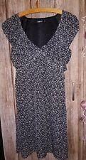 Kleid Schwarz/Weiß Damen Gr. 36 colours of the world Takko