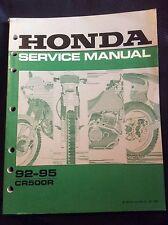 Honda NOS service shop manual CR500R CR 500R 500 R 1992 1993 1994 1995