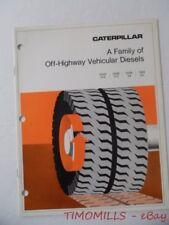 c.1972 Caterpillar Off-Highway Vehicular Diesel Engine Catalog Brochure D349 348