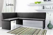 Eckbank OLGA Esszimmerbank Sitzbank Bank Kunstleder schwarz weiß grau braun NEU
