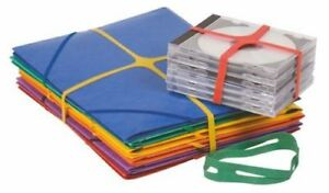 Pack of 100g Q-Connect Assorted X-Bands - 100x11mm Free Delivery