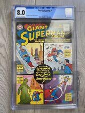 SUPERMAN ANNUAL 4 1961 CGC 8.0 - 11th LSH PLUS ORIGINS / POWERS OF THE LSH