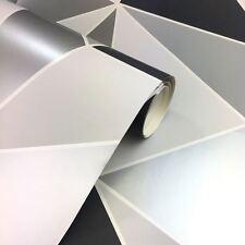 Sommet Papier peint Géométrique Noir/ARGENT - décor fin fd41994 LUXE