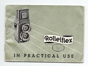 Rollei Rolleiflex 4x4 In Practical Use 1957 Camera Instruction / Guide / Manual