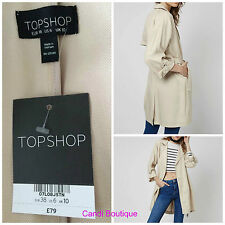 TopShop Women's No Pattern Trench Coats, Macs Coats & Jackets