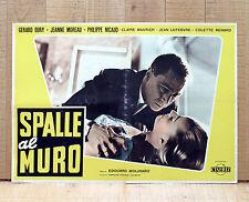 SPALLE AL MURO fotobusta poster Le Dos Au Mur Edouard Molinaro Noiret Moreau W8