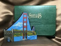 "RETIRED & RARE Shelia's Collectibles Wood ""GOLDEN GATE BRIDGE"" SF,CA in Box!"