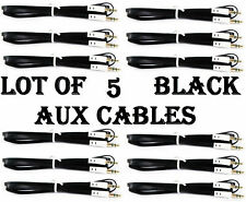 LOT OF 5 BLACK AUX CABLES AUXILIARY CORD Male Stereo Audio Cable iPod MP3 CAR BE