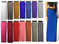 WOMEN LADIES JERSEY LONG MAXI BODYCON SKIRT GYPSY STRETCHY SKIRT SIZE 8-26 UK
